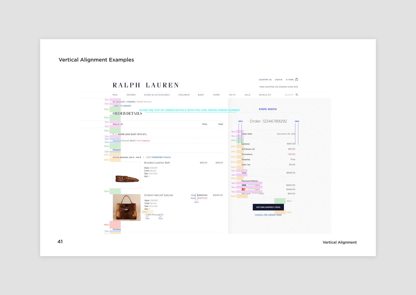 Style Guide Primary Page Vertical Alignment