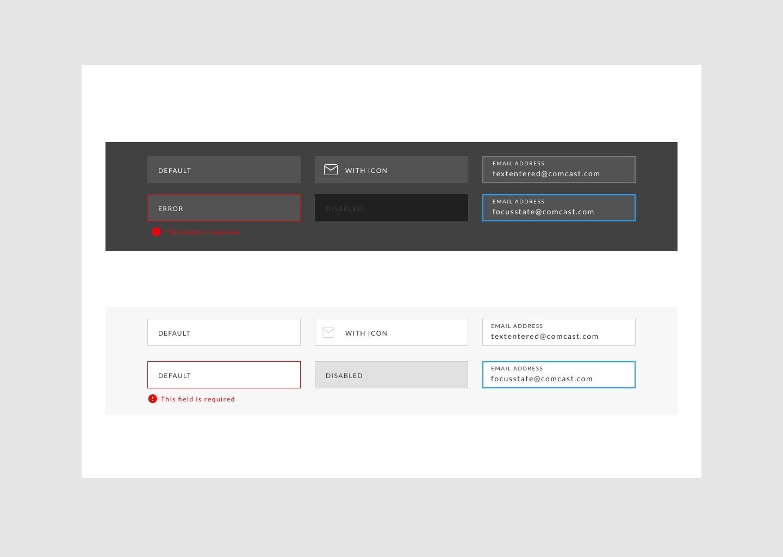 Form Fields Desktop